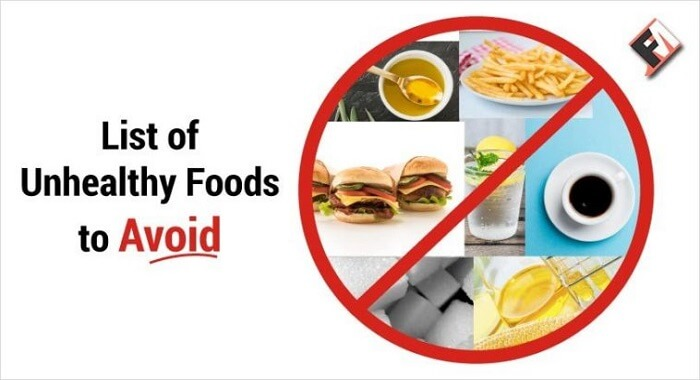 7 Unhealthy Food Items That You Should Avoid